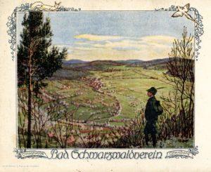 Historische Ansichtskarte des badischen Schwarzwaldvereins